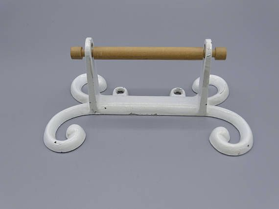 Vintage Cast Iron Toilet Roll Holder Rustic Toilet Roll