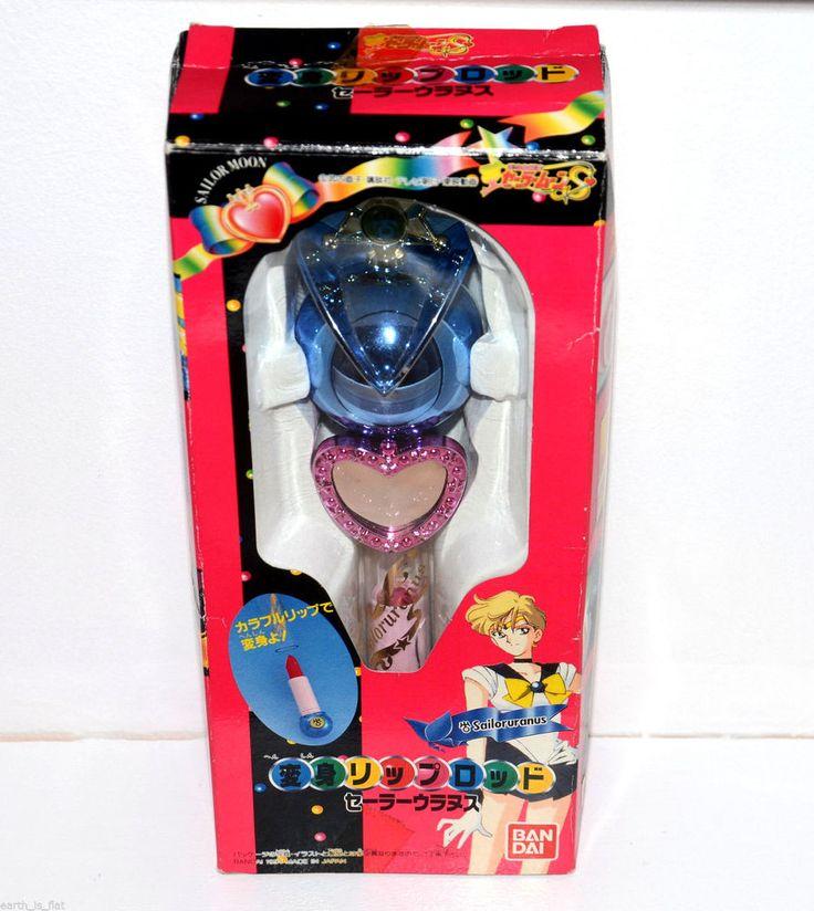 Sailor Uranus Henshin Lip Rod transformation wand Sailor Moon S Bandai Japan 94 #Bandai