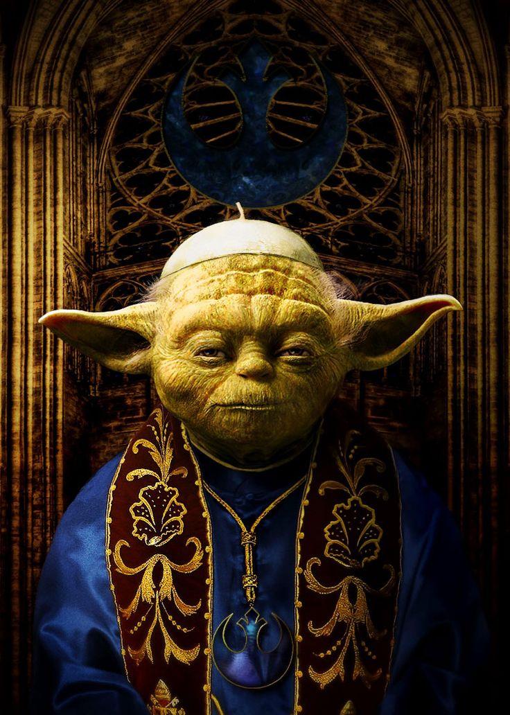 Pope Yoda by AZRainman  #fanart