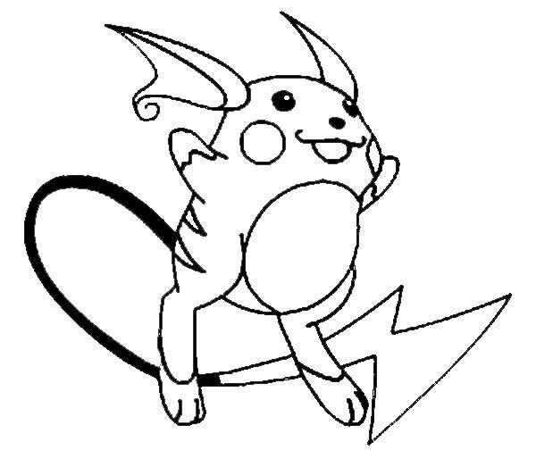 Raichu Jumping Coloring Page : Color Luna in 2020 ...