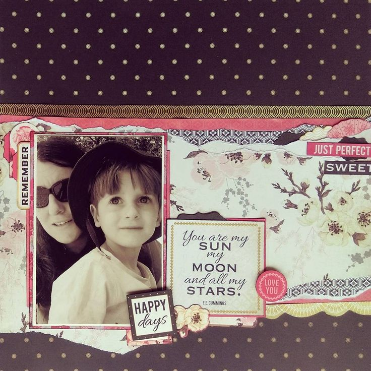 Another of my layouts from the February kit at @creative.kit.club using the @kaisercraft 'Hanami Garden' collection. (And another of my favourite layouts ever.) #creativekitclub #scrapbooking #cardmaking #paperflourish #kaisercraft #kaisercrafthanamigarden #kaisergallery
