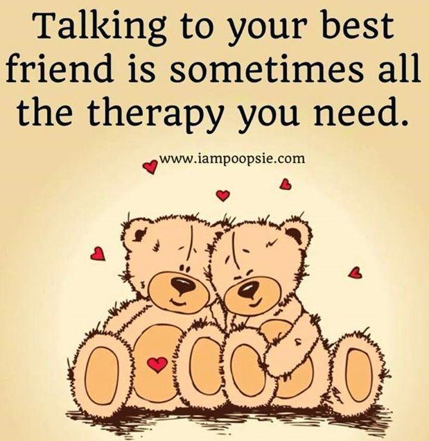 Talking to your best friend quote via www.IamPoopsie.com