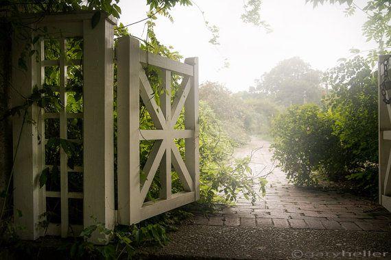 Mystic Garden Gate  Dreamy Art Color by garyhellerphotograph