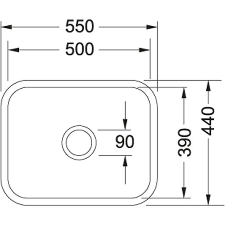 VBK | VBK 110-50 | Ceramic White  | Sinks