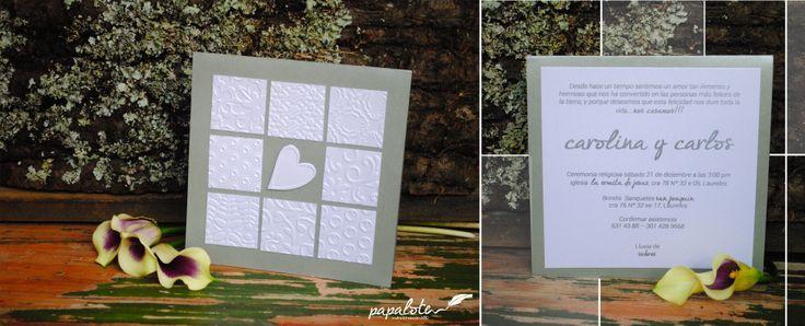 Invitación para boda, tipo Moderna / Paleta de color: Silver  / Disponible en Medellín - Colombia  / Envíos a nivel nacional