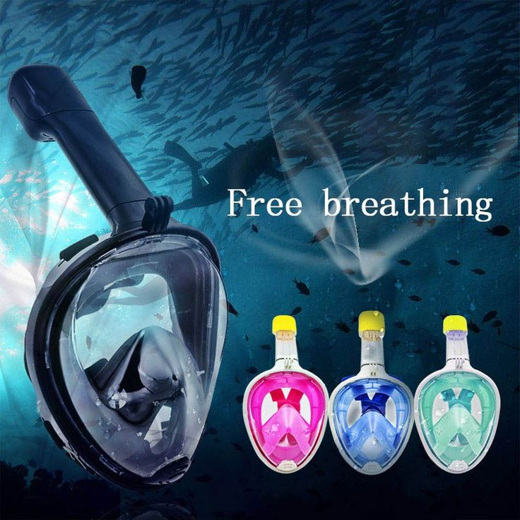 Full Face Scuba Diving Underwater Diving Mask Anti-Fog Swimming Snorkeling Set Diving Equipment with Anti-skid Ring Snorkel