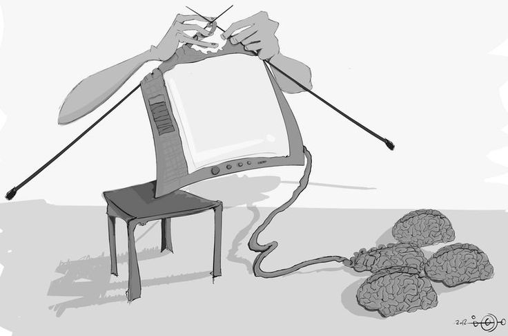 A cartoon by Morhaf Youssef on the influence of technology and media: http://www.cartoonmovement.com/cartoon/8951