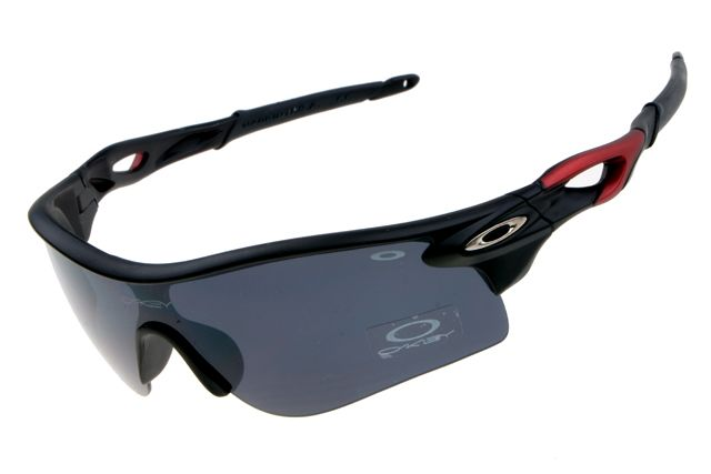 red and black oakleys  BestQualitySunglass Oakley Radarlock Visor Black CIB: Cheap ...
