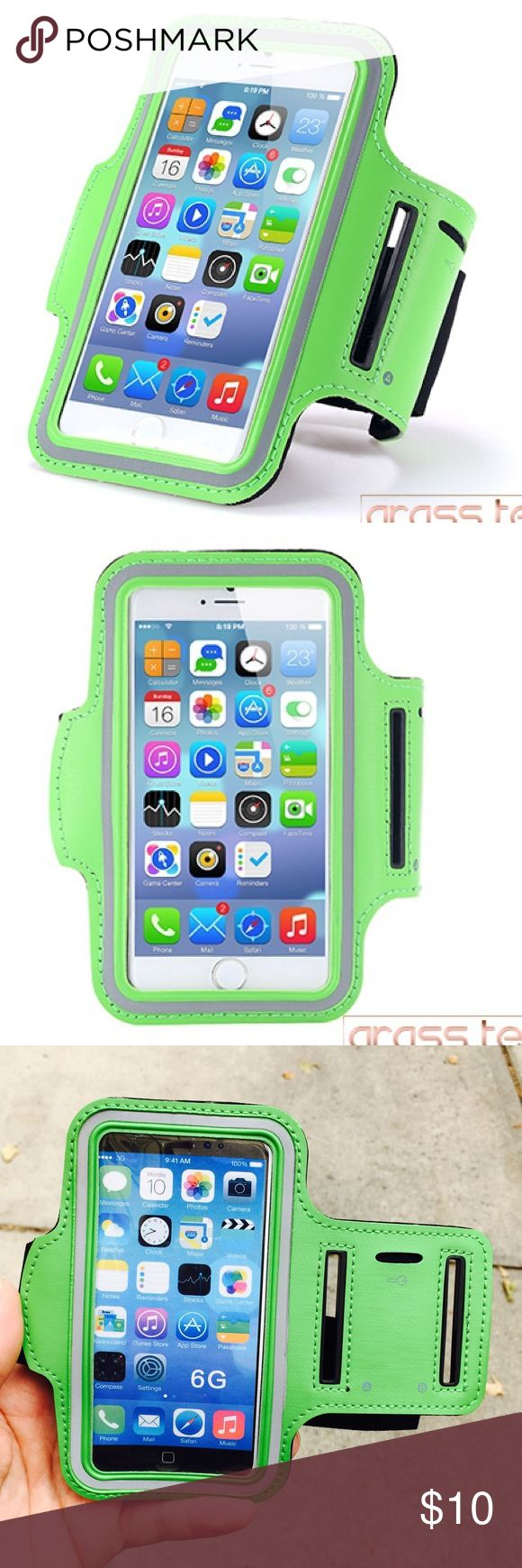 iPhone 7+/6+ Universal waterproof sport armband iPhone 7+/6+ Universal waterproof sport armband Stylish and convenient Universal Professional Sports Armband for running, fitness, cycling and all sports activities compatible for Apple iPhone 7 Plus, 6 Plus and 6s Plus, 5.5 inch.  Waterproof, sweat-proof and high quality.  Fast shipping  Green Accessories