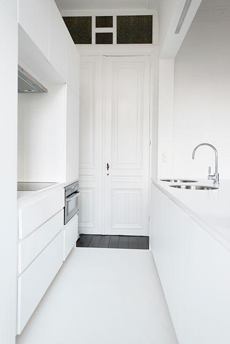 Smalle keuken keuken ideetjes pinterest art art nouveau and van - Smalle keuken ...