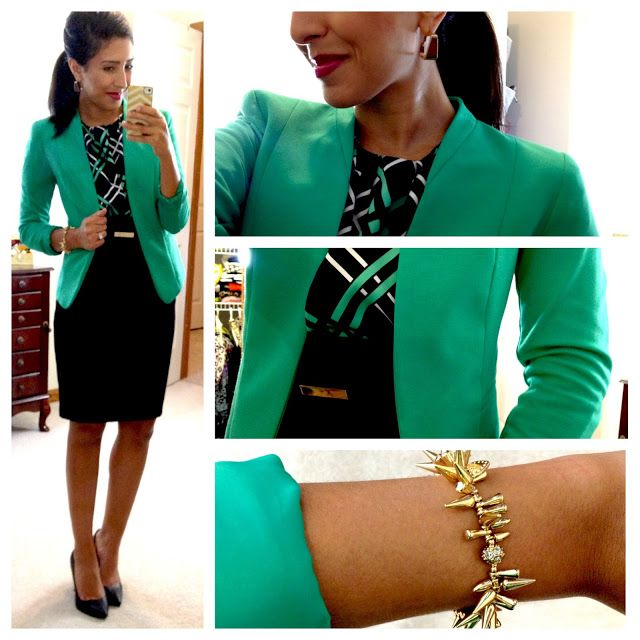For inspiration: this blogger has documented countless colorful and creative business and business-casual combinations.