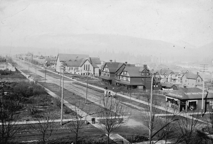 Georgia and Howe streets in 1905.