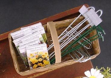 Miniature Garden Accessories in Basket Tutorial | Cotton Ridge Create!