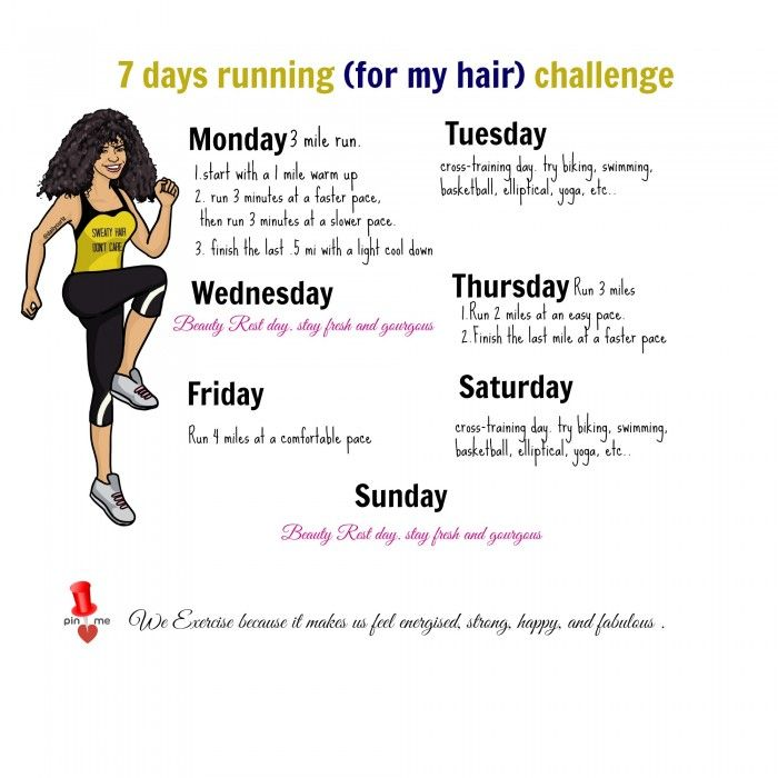 7 days running challenge..