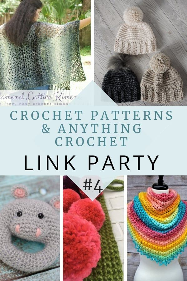 Crochet Patterns and Anything Crochet Link Party #4 | Maggie\'s ...