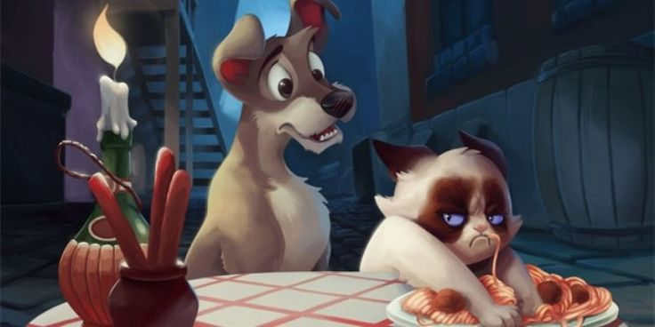 10 Depictions of Grumpy Cat in a Disney Scenario via www.bored.com