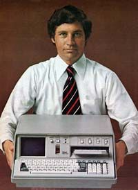 The IBM 5100 is the first portable computer, which was released on September 1975. The computer weighed 55 pounds and had a five inch CRT display, tape drive, 1.9MHz PALM processor, and 64KB of RAM. In the picture to the right, is an ad of the IBM 5100 taken from a November 1975 issue of Scientific America.