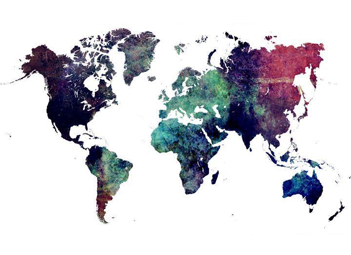 World Map cold - JBJart