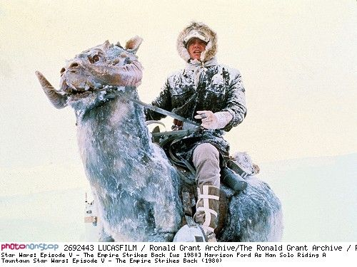 Star Wars: Episode V - The Empire Strikes Back [us 1980] Harrison Ford As Han Solo Riding A Tauntaun Star Wars: Episode V - The Empire Strikes Back (1980)