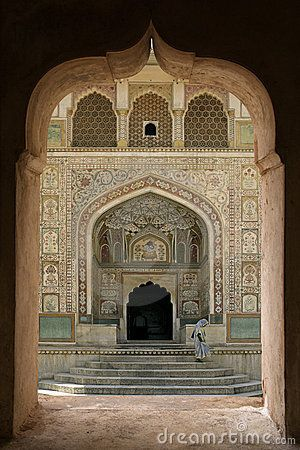 ॐ One of the beautiful Entrances to Amer Hindu Fort, Jaipur, Rajasthan, India ॐ