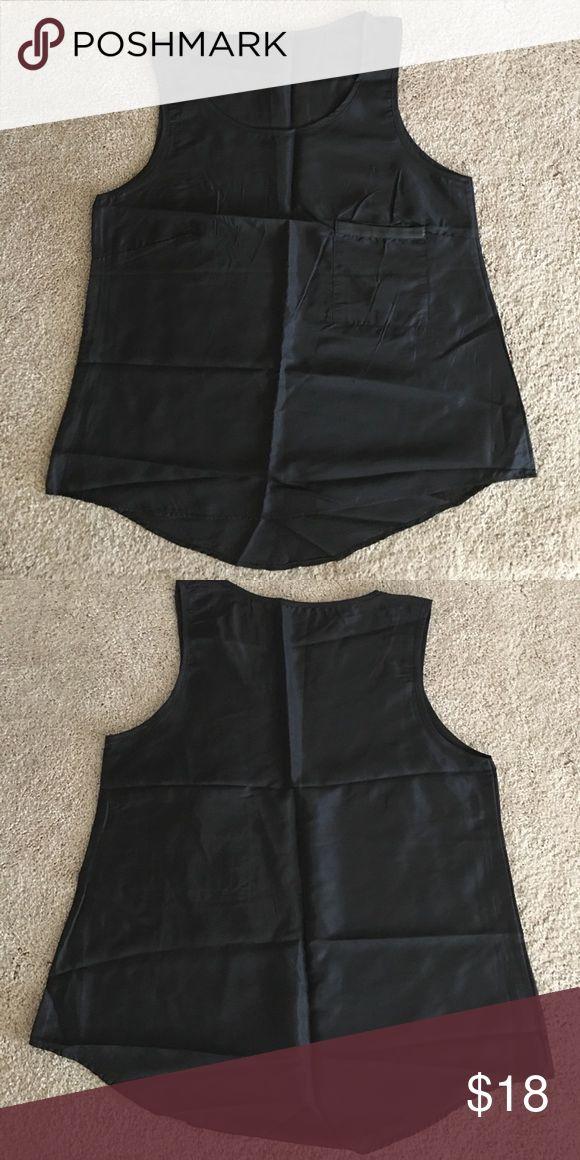 Shear black CAMI TOP. Size Medium-pocket left brea NWOT Shear black CAMI TOP size Med Tops Camisoles