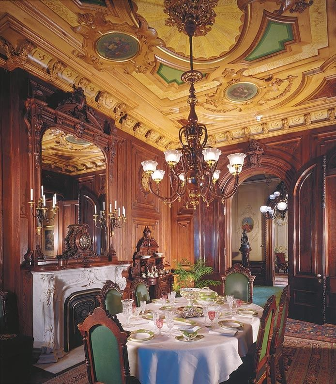 Victorian Dining Room | Extravagant Victorian dining room - Morse-Libby ... | Victorian Style
