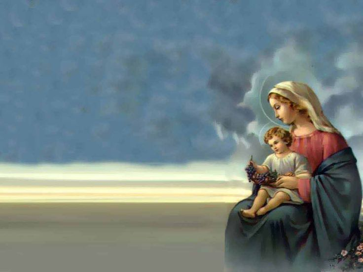 Beautiful Jesus Backgrounds | Mother Mary Wallpapers 11