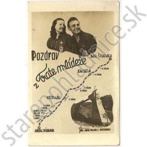 Stará pohľadnica Trať mládeže. Banská Štiavnica