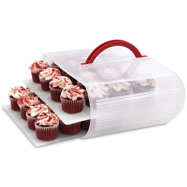Bakers Sto-N-Go Dessert Carrier - Eclectic - Food Storage Containers -... ❤ liked on Polyvore featuring home, kitchen & dining and food storage containers