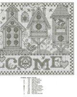 """haft / domki dla ptaków -  welcome 1/3 // Gallery.ru / patrizia61 - Альбом """"welcome"""""""