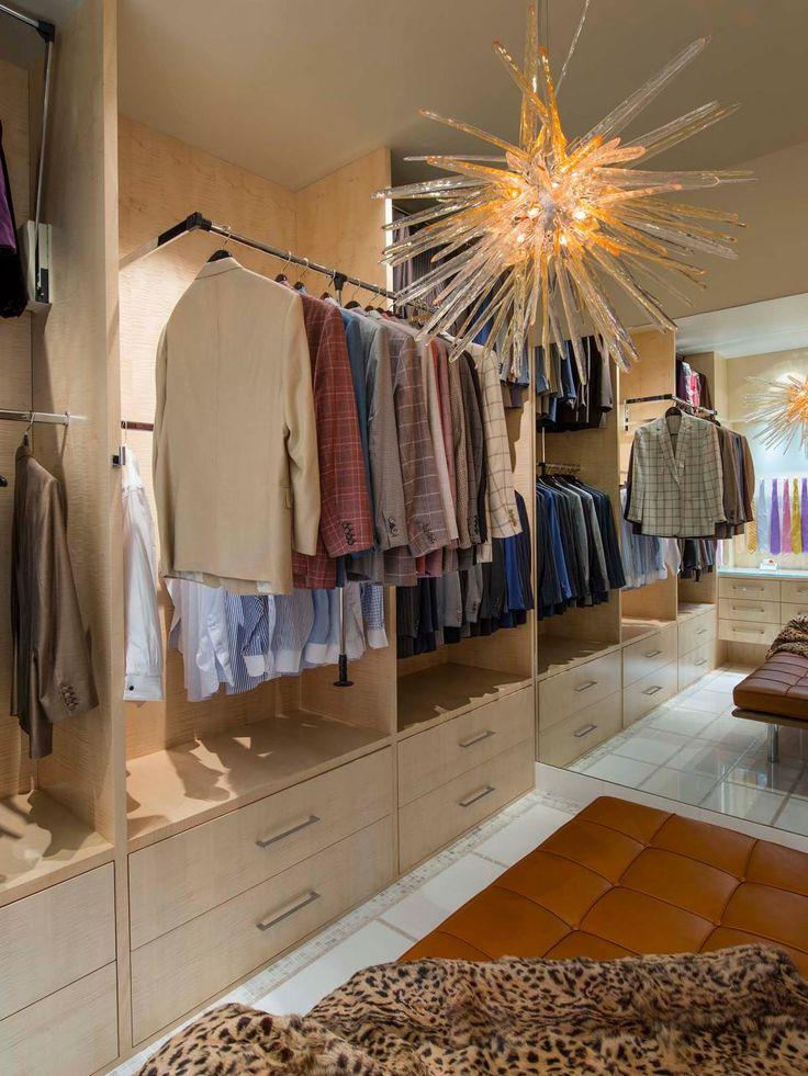 16 Stylish Menu0027s Walk In Closet Ideas