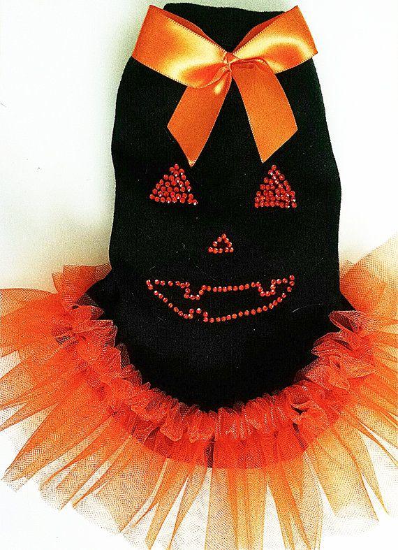Dog dress Dog Clothes Halloween Tutu black and by miascloset