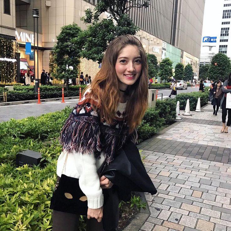 久々のオデコ出しスタイル👻🙌🏼 #girl #happy #smile #tokyo #japan #instagood #autum #winter #ootd #outfit #brownhair
