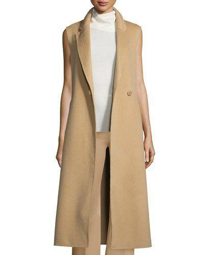 Theory+Tremayah+Df+New+Divide+Long+Vest+Palomino+|+Clothing