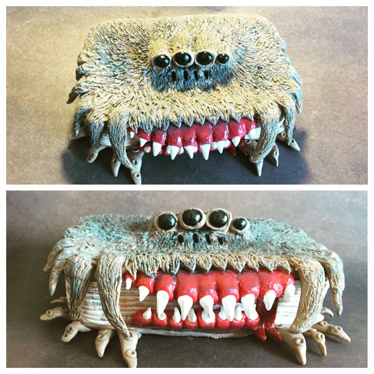 The Monster Book of Monsters. Harry Potter inspired polymer clay covered altoids tin by India Hudson.