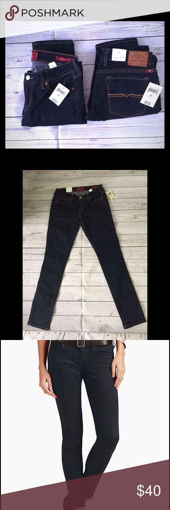 "NWT Lucky Brand Charlie Skinny size 4R/27 New with tags Lucky Brand Charlie skinny. Purchased at the outlet, original retail price of $79.50. Nice dark wash, low rise (but not too low) fit, they sit a bit below the waist. Size 4 regular, 32"" length. Lucky Brand Jeans Skinny"