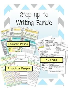 This step up to writing bundle has 41 pages of step up to writing