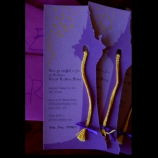 Rapunzel party invitations idea. X