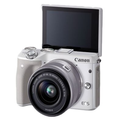 canon eos m3 kit ef m15 45mm kamera mirrorless white specification