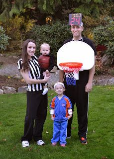 Basketball Family Halloween costume. Cheap and unique.