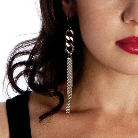 METAL Long Fine vs Chunky Earrings.  LOVE!!