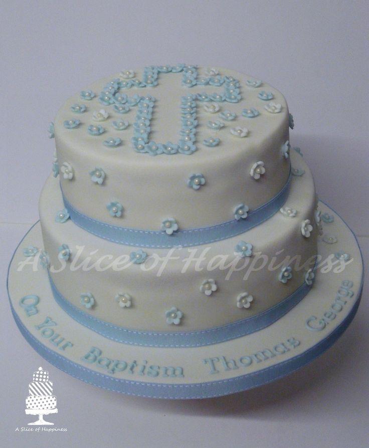 Baptism Cake asliceofhappiness & 7 best Baptism images on Pinterest | Christening cakes Baptism ...