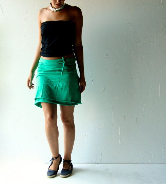 Hey, I found this really awesome Etsy listing at https://www.etsy.com/listing/199100473/cotton-skirt-jersey-skirt-green-skirt