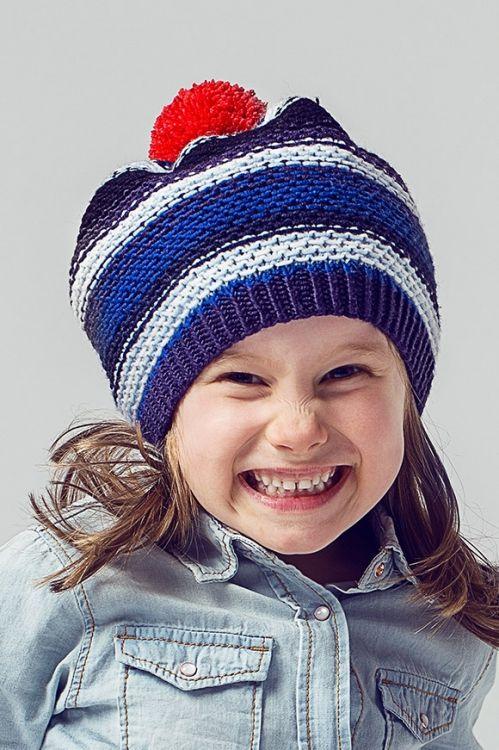 Kostenlose Strickanleitung: Kindermütze mit Bommel - Initiative Handarbeit