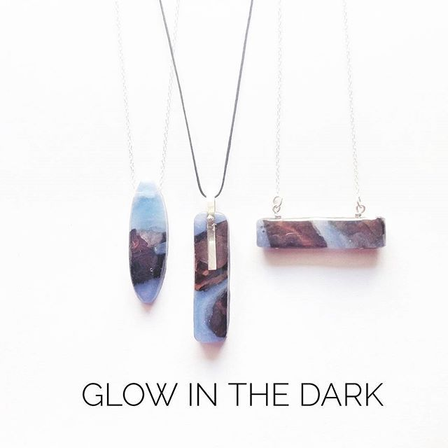 Glow in the dark pendants with scrap wood!  Your everyday Rich Drops! #handmade#resin#glow#blue#brown#sterling#silver#wood#unisex#rustic#inspiration#fashion#collection#present#bench#project#rich#drop#everyday#beautiful#photo#instajewelry#jewellery#jewelry#