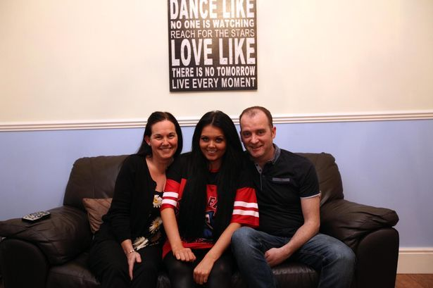 Scarlett Moffatt with her mum Betty and Dad Mark from Bishop Auckland who are one of the familys starring on TV show Gogglebox