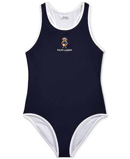 d6fb11c3283a1 Polo Ralph Lauren Toddler Girls Scuba Bear One-Piece Swimsuit & Reviews  - Swimwear