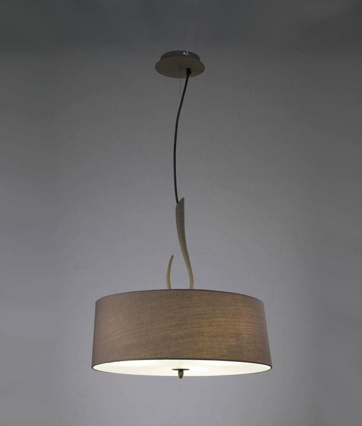 Colgante gris ceniza LUA 3 luces - La Casa de la Lámpara