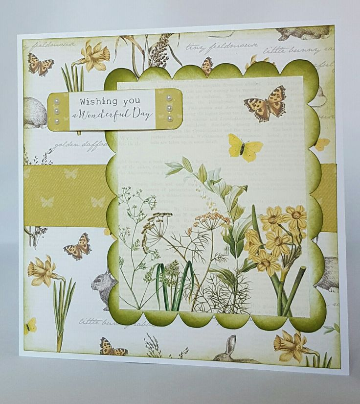 Card made by Cathy Clowes for Craftwork Cards using the Meadow Collection.
