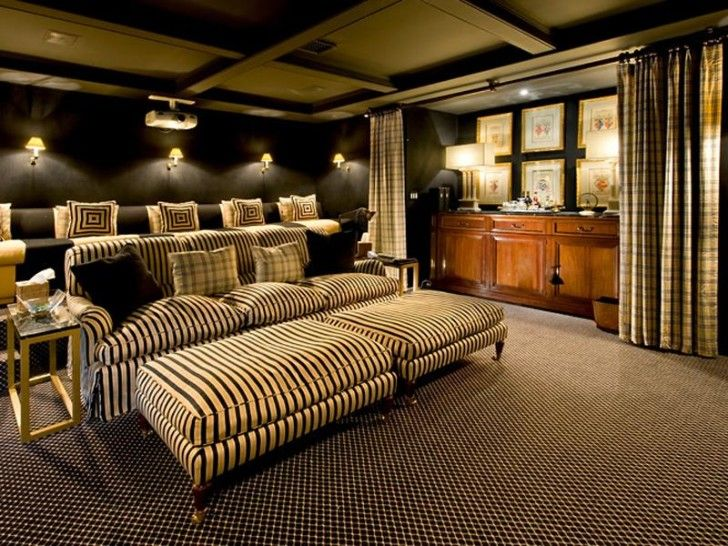 Get Contemporary Home Theater Design For Your Family: Amusing Contemporary Home  Theater Design With Beautiful Part 87